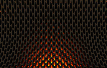 Metal mesh grild. Abstract 3d rendering background in high resolution. 3d render of  black carbon...