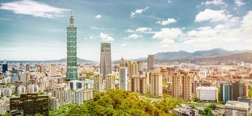 Panoramic of city Taipei , Taiwan