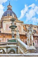 Wall Mural - The Praetorian Fountain in Palermo