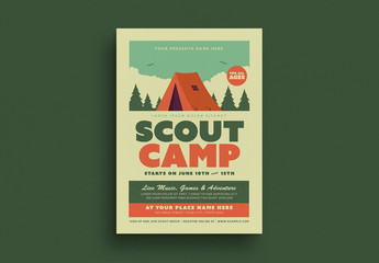 Scout Camp Flyer Layout