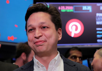 IPO of Pinterest Inc. at the New York Stock Exchange in New York