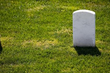 single marble tombstone