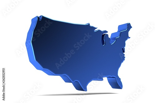 Usa United States Map 3d Render Illustration Stock Photo And - Free-3d-us-map