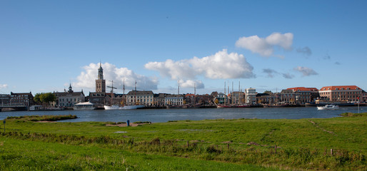 City of Kampen Overijssel Netherlands. River IJssel panorama Fototapete