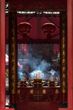 Incense Sticks in a Chinese temple