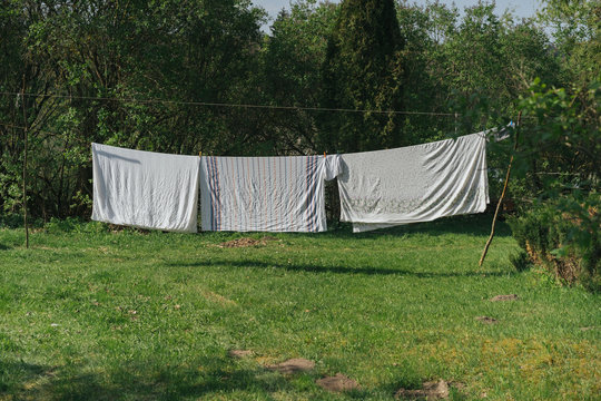Clothes Line Outdoors.