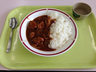 Japanese Curry and Rice at School Cafeteria