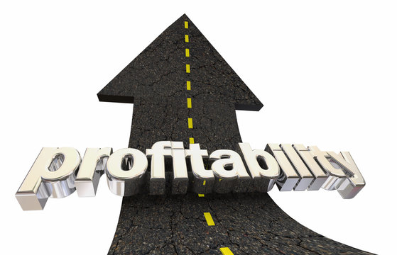 Profitability Earn More Net Revenue Money Road Arrow 3d Illustration