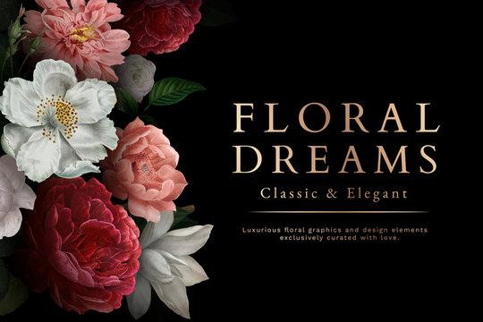 Floral dreams card