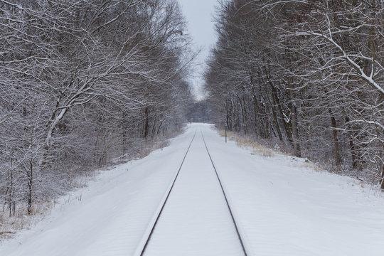 railroad snow winter