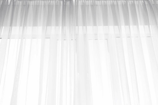 Light curtains in room