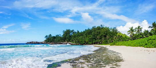 Beautiful wild lonely beach, police bay, seychelles 36
