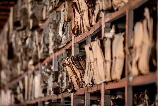 Archive of historical documents bound in files