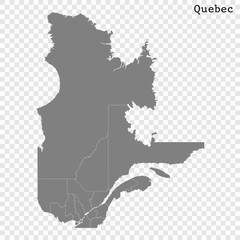 High Quality map province of Canada