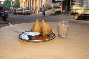 Traditional indian street food