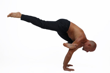 Advanced yoga handstand pose