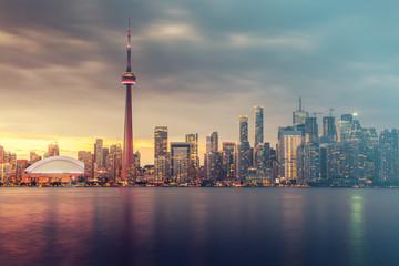 Photo Stands Toronto Toronto city skyline at night, Ontario, Canada