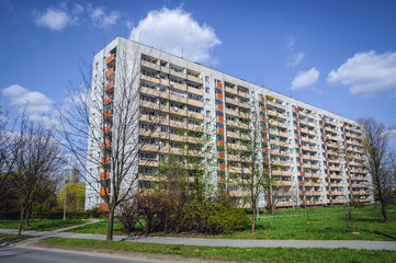 Typical house of flats in Cracow city in Poland