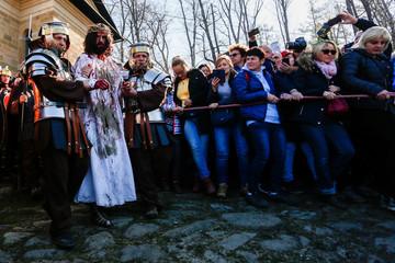 Polish devotees markGood Fridayat the Sanctuary of Kalwaria Zebrzydowska near Krakow