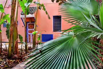 piękny ogród i dom, Maroko