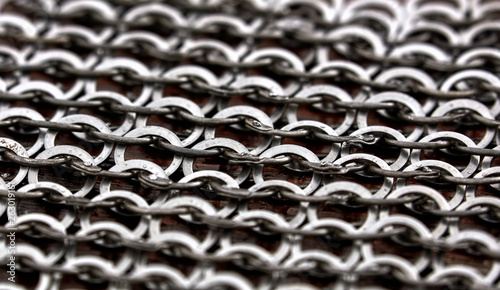 Chain-mail or Hauberk texture, metal protective armor of