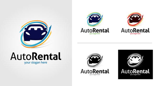 Car Rental Logo Template Set