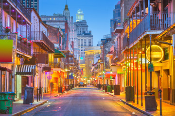 Bourbon Street, New Orleans, Louisiana, USA Fotomurales