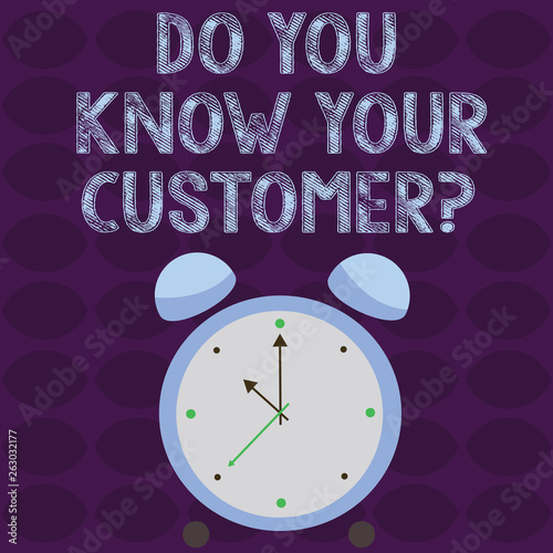 Conceptual hand writing showing Do You Know Your Customer