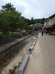 Street in Miyajima, Hiroshima, Japan