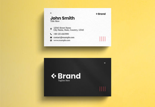 Black And White Minimalist Business Card Layout