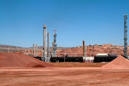 Oil and gas plant. Gallup, New Mexico