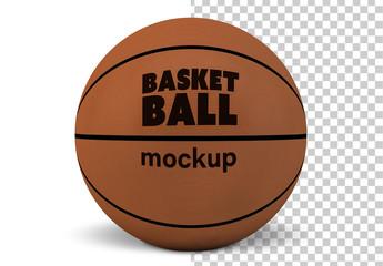Basketball Isolated on White Mockup