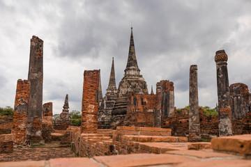Ruins in Ayutthaya, the ancient city. Bangkok, Thailand