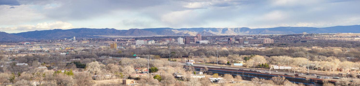 Beautiful aerial panorama Albuquerque NM