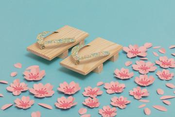 Geta and sakura