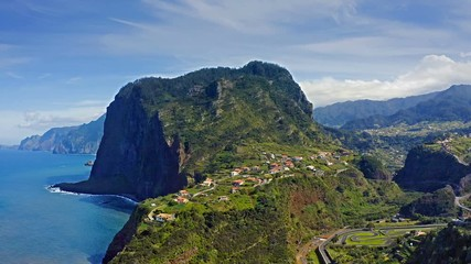 Fototapete - Beautiful mountain landscape of Faial, Madeira island, Portugal.