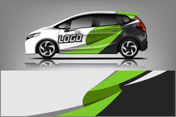Fototapete - Car wrap design, for branding, services, company.