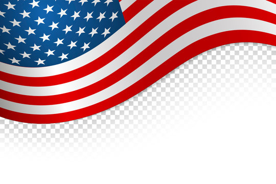 Flag american background. Flag isolated on white background. Vector