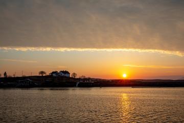 Sunset on sea