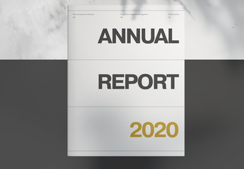 Annual Report Layout with Gold Accents