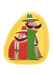 Private detectives with moustaches