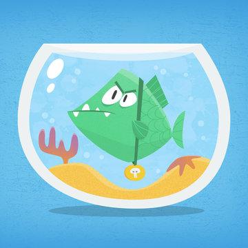 Dangerous fish in a fishbowl