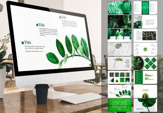 Presentation Layout with Green Accents