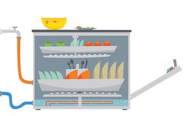 Dishwasher - cross-section