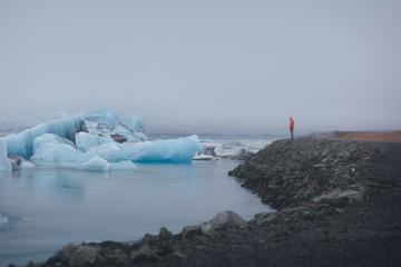 Glacier Viewer at  Jökulsárlón Glacier Lagoon in Iceland