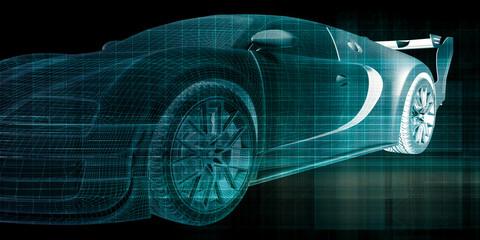 Futuristic Car Background