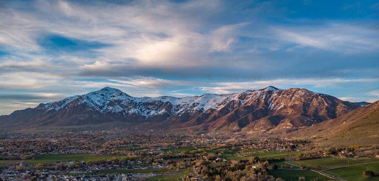19 April, 2019 sunset over North Ogden, Utah