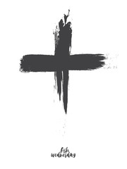 Black cross of ash wednesday