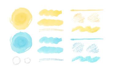 夏 水彩 手描き テクスチャ