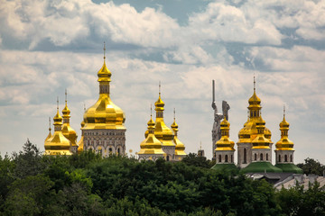 Poster Kiev Panorama view of the Kyiv Pechersk Lavra, the orthodox monastery included in the UNESCO world heritage list in Kyiv, Ukraine.